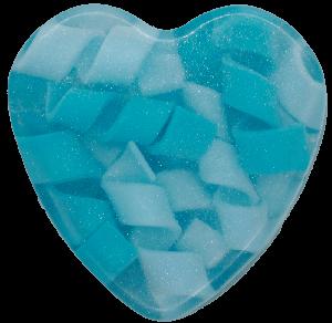 Image of Blue Swirly Heart