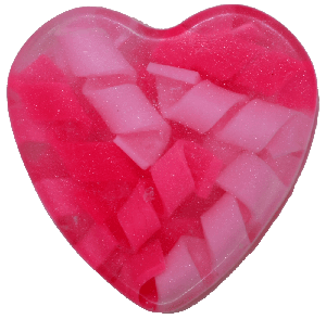 Image of Pink Swirly Heart