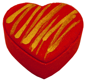 Image of Red Watermelon Heart Bath Fizzer